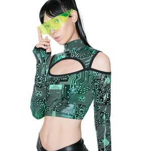 Tops - Club Exx Circuit Trippin' Cut-Out Crop Top